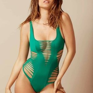 $385 Agent Provocateur Dakotta Cutout Swimsuit